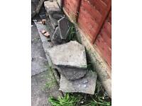 *FREE* Rocks / concrete pieces / rockery