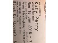 4 x seated tickets for Katy Perry Birmingham 18 June