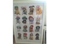 Framed dog poster