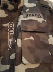 Spada camouflage motorbike jacket and bottoms