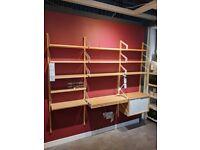 SVALNÄS Desk Combo, wall mounted shelves 215cm WAS £385 #bargaincorner