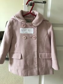 Next 1.5-2 years pink girls hooded coat