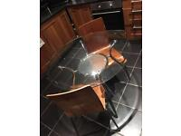 Glass kitchen table & chairs