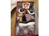 Porcelain Christmas doll