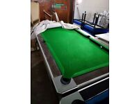 6ft pool table - slate bed - must go asap