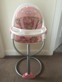 Baby Annabelle high chair
