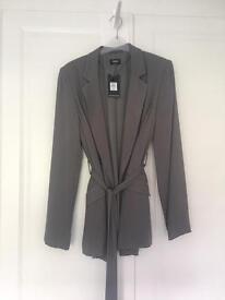 Oasis grey blazer size 10