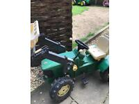 John deer toy pedal tractor