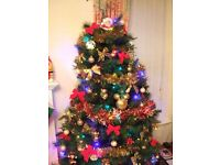 6ft flat backed (half) Christmas tree - ideal space saver