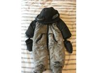Boys snow suit with mittens