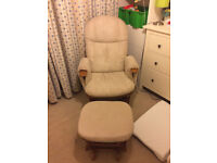 Rocking chair and footstoll more than 60% off - good condition