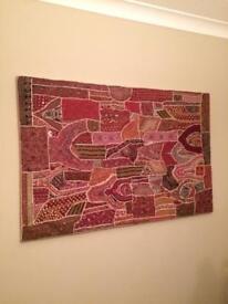 Indian framed tapestry