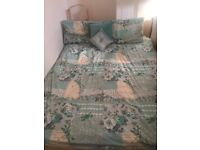 Kind size bed frame and mattress