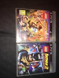 Lego Batman 2 and Lego Indiana Jones 2 ps3