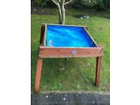 Plum sandbox, in fine shape although used.