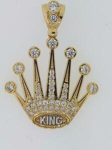 Rolex pendant in 10kt yellow gold set with AAA cz