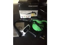 Steam cleaner boxed with instructions