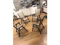4 x Outside Deck/table chairs