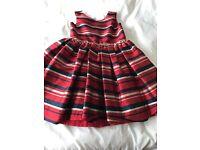 Girls Red Striped Dress