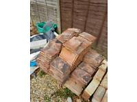 Reclaimed red clay roof tiles 26x16cm job lot approx 300 tiles