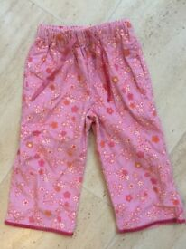Mini Boden pink needlecord trousers - Never worn