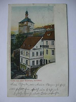 AK Blümlein Karlsbad 1905