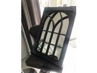 Indoor outdoor arch window mirrors