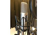 Rode NT2A mic + pop and reflection filter