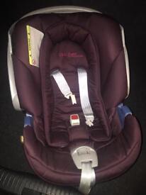 Mamas & Papas Cybex Aton Purple Car Seat USED