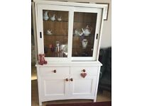 Gorgeous painted dresser,sliding glass doors to top 2drawer and cupboard to base