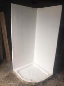 Leak proof shower pod 900 quad 1 Piece