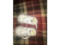 BRAND NEW White infant leather converse size 3
