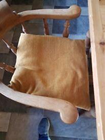 Six Large yellow cushions