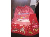 Girls Oilily top skirt and tights age 2