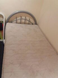 FREE SINGLE BED FRAME WITH SPRING MATTRESS (USED)