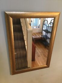 Gold Framed Mirror Measurements Height 34.5in/88cm Width 25in/63cm