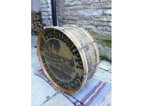 "Rare Vintage 1930's Premier 28""x 9"" Bass Drum with Mississippi Riverboat logo"