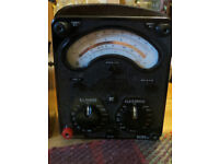 Universal AVOMETER, Vintage Analogue Test Meter in Superb Condition with Leather Case & Accessories