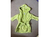 Frog baby bathrobe
