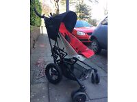 Micralite Superlite - leightweight & fastfold Stroller with seat liner - red/black in good condition