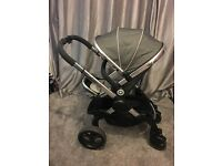 Excellent condition I-Candy Peach 3 pushchair - truffle and chrome. RRP: £755