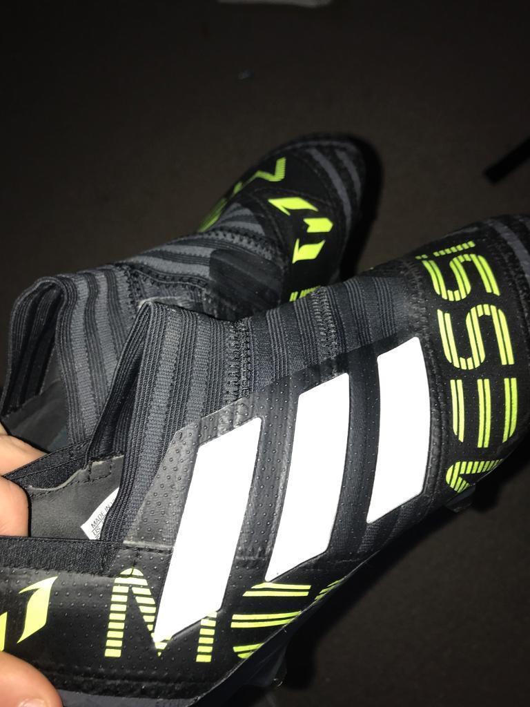 low priced cd62f 9e8fb Adidas Nemeziz Messi 17+ 360 Agility FG - Core Black White Solar Yellow.  Football boots.