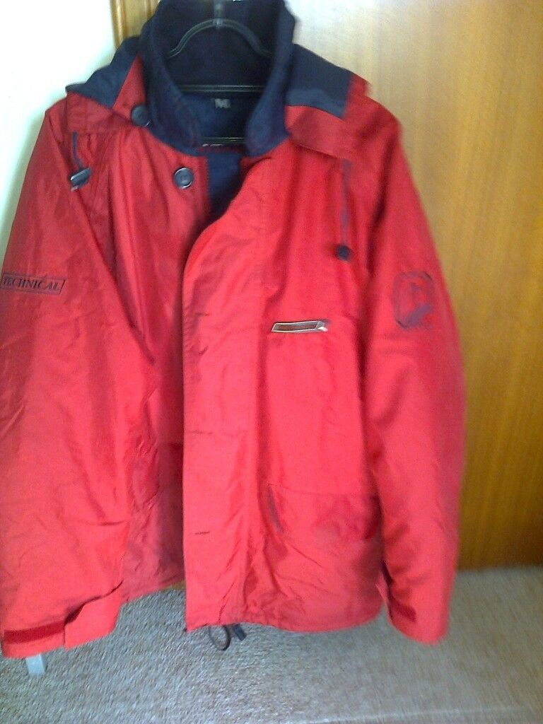 winter jacket, red