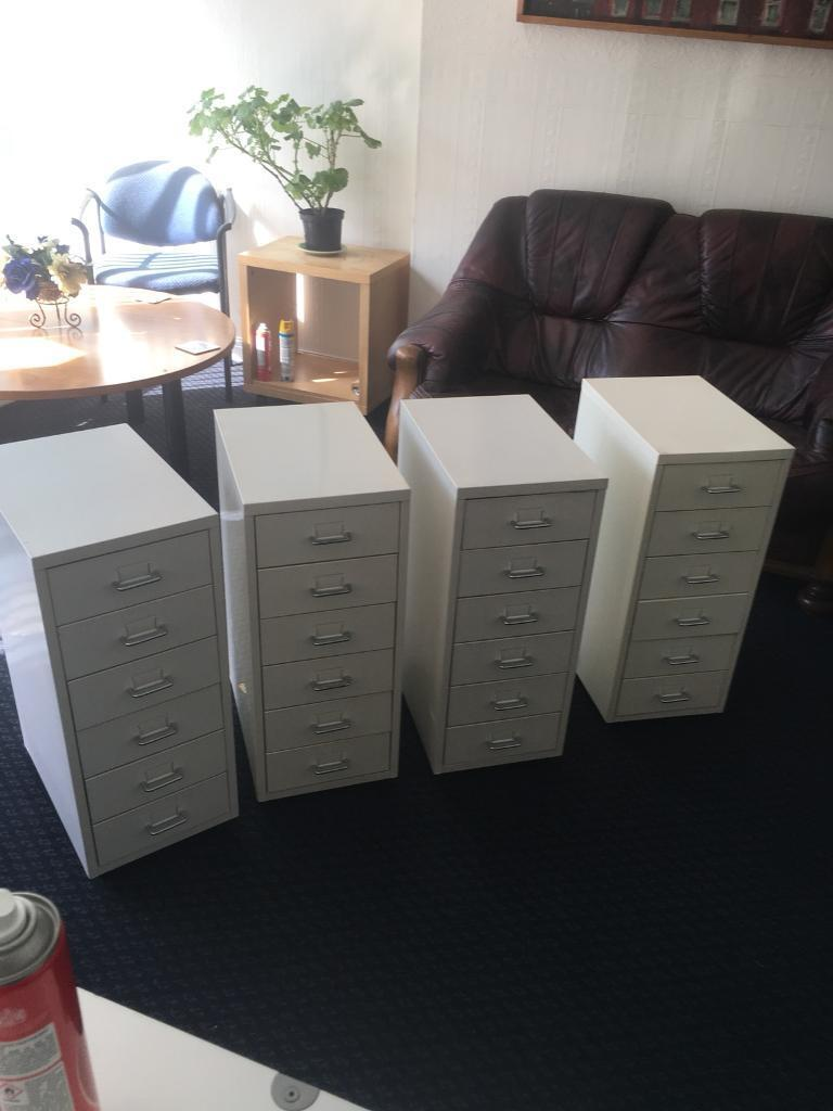 Office or Home white metal 6 draws