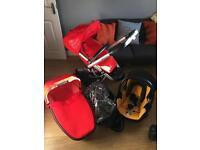 Red quinny buzz Pram pushchair
