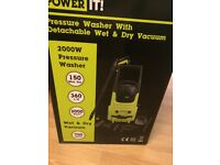 2 in 1 Power Pressure Washer 150BAR and Wet & Dry Vacuum Cleaner