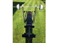 Pro power weights bench - weights included