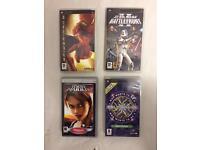 Job lot x4 Sony PSP games Tomb Raider Star Wars Spiderman