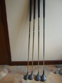 Pro Kennex Performer 3.5 metal woods ( 1, 3, and 5) and Pro Kennex Performer Metal wood, (1)