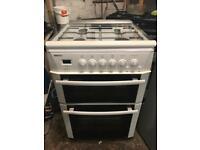 Beko gas cooker double oven 60cm